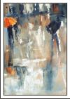 Abstract street scene painting
