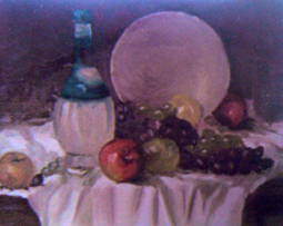Grapes and apples still life