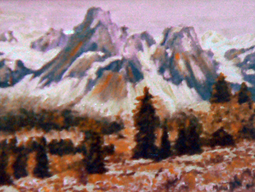 Alps oil painting