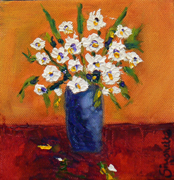 Spring flowers oil painting